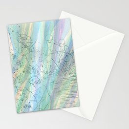 Kids at the paddling pool --study Stationery Cards