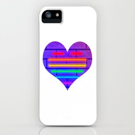 LGBT, Gay and Lesbian Quotes, Designs of Rainbows Flags and Hearts (20) iPhone Case