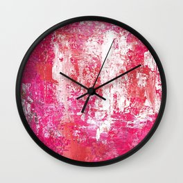 Roses Play Color On Ice Wall Clock
