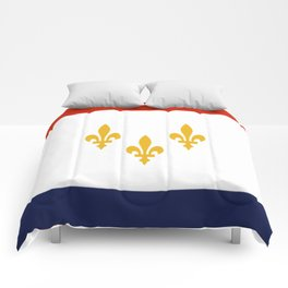 flag of new orleans,NOLA, Crescent City,Big Easy, Nawlins, jazz,Lousiana,french,cajun,treme Comforters