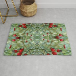 Rose hip Abstract Photography Rug