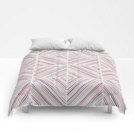 Herringbone Diamonds - Mauve Comforters