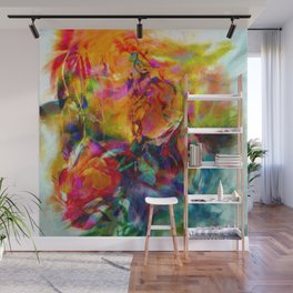 abstract about wine, flowers, party Wall Mural