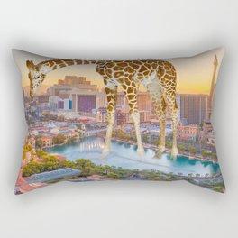 Giraffe in Las Vegas Rectangular Pillow