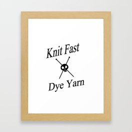 Knit Fast X Dye Yarn Framed Art Print