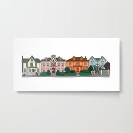 New Bedford Houses Metal Print