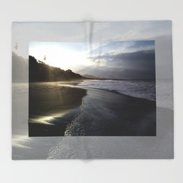 Sunrise Beach Throw Blanket