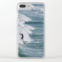Wrightsville Surfer Clear iPhone Case