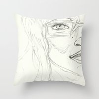 glasses Throw Pillows featuring Glasses by writingoverashes