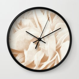 Cafe Au Lait Dream #2 #rose #floral #decor #art #society6 Wall Clock