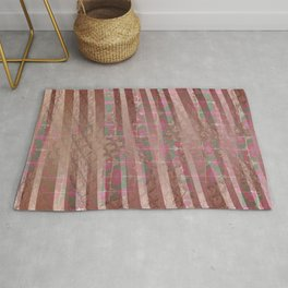 Flowers and lines S12 Rug