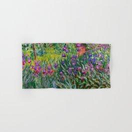 "Claude Monet ""The Iris Garden at Giverny"", 1899-1900 Hand & Bath Towel"