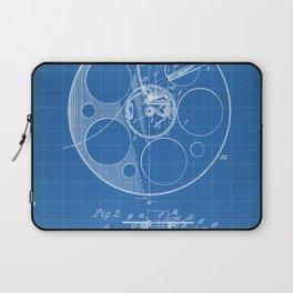 Film Reel Patent - Classic Cinema Art - Blueprint Laptop Sleeve