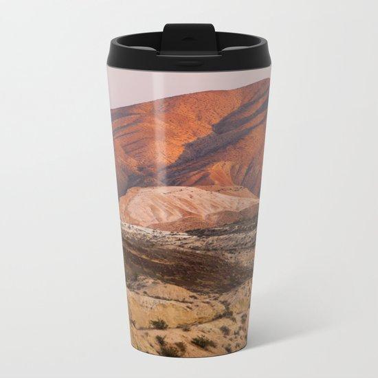 The Pinkest Sunset (Red Rock State Park, California) Metal Travel Mug