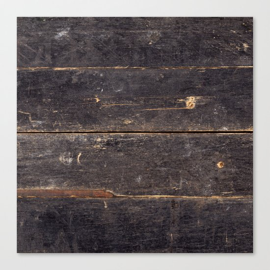 Vintage Black Wood Canvas Print