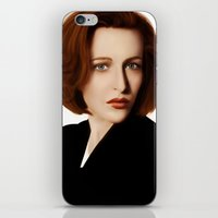 dana scully iPhone & iPod Skins featuring Scully by Alexia Rose
