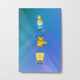 3 Times Yellow  Metal Print