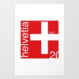 Switzerland stamp  Art Print