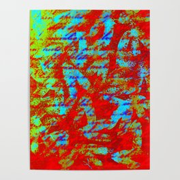 Design Delirium Red Poster