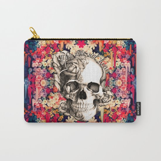 You are not here Day of the Dead Rose Skull. Carry-All Pouch