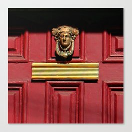 Stage Door 1889 - Please Knock Canvas Print