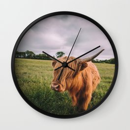 Epic Highland Cow Wall Clock
