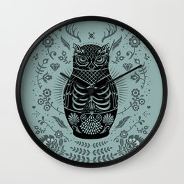 Owl Nesting Doll (Matryoshka) Wall Clock