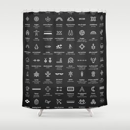 Native American Symbols Shower Curtain