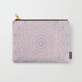 Pastel Lilac and Pink Mosaic Carry-All Pouch