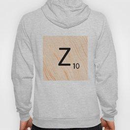 Scrabble Letter Z - Scrabble Art and Apparel Hoody