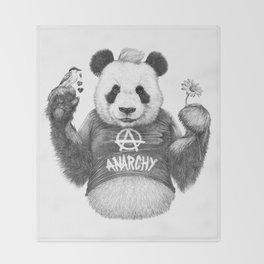 Punk Panda Throw Blanket
