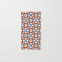 Moroccan Tile - poppy Hand & Bath Towel