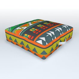 Festive pattern Outdoor Floor Cushion