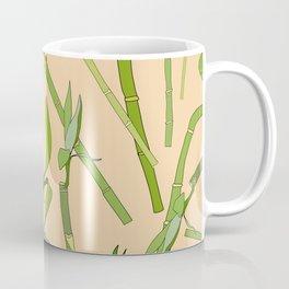 Scattered Bamboos on Beige Coffee Mug