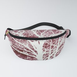 Red tree silhouette Fanny Pack