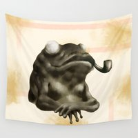 gentleman Wall Tapestries featuring Gentleman Frog by Doruktan Turan
