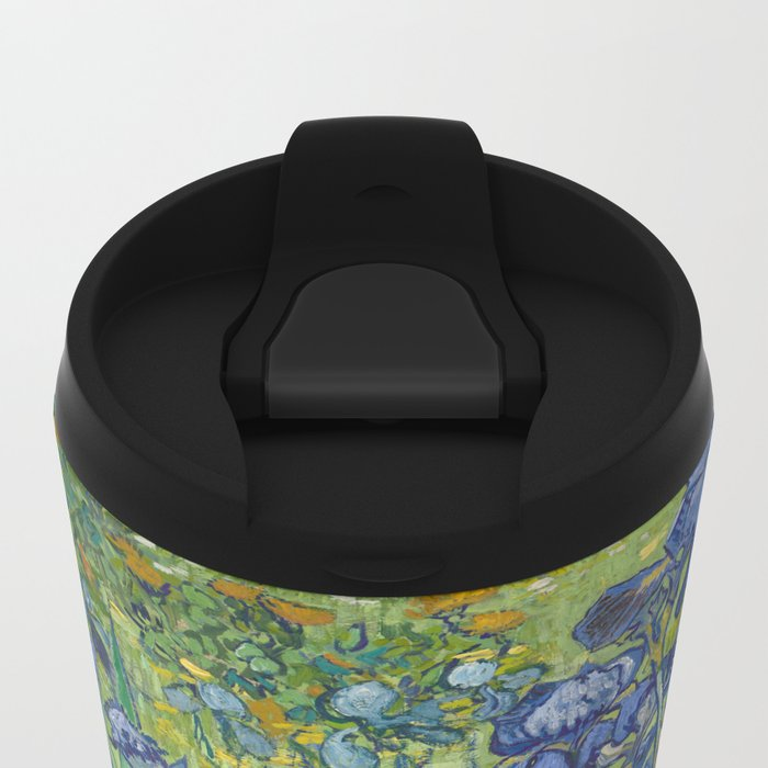 Irises by Vincent van Gogh Metal Travel Mug