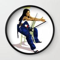 aaliyah Wall Clocks featuring Aaliyah by MikeHanz
