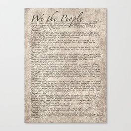 United States Bill of Rights (US Constitution) Canvas Print