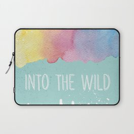 Into the Wild - Wild Heart Boho Watercolor Mountains Laptop Sleeve