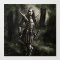 elf Canvas Prints featuring Elf by Gyossaith