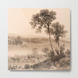 Lake Champlain 1850 (sepia) Metal Print