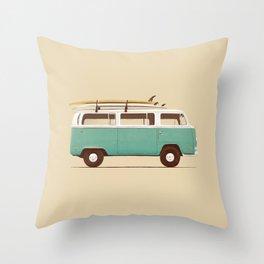 Van - Blue Throw Pillow