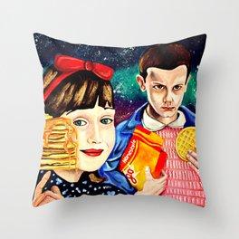 Psychedelic Breakfast Throw Pillow