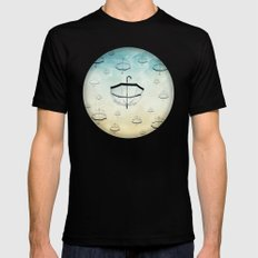 wishing for rain Black X-LARGE Mens Fitted Tee