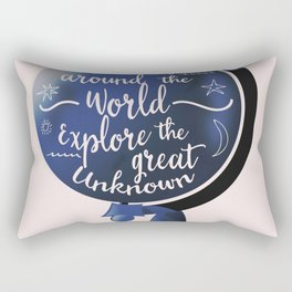 Travel Around the World Explore the great unknown Rectangular Pillow