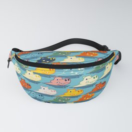 Happy Hippo Family Fanny Pack