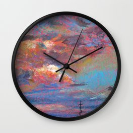 Drive-by Sunset Wall Clock