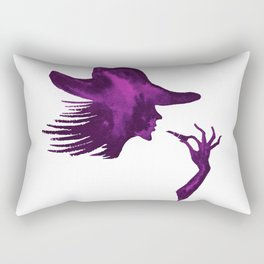 DIVA WITH HAT and Lipstick - PAINTED - Gorgeous VIOLET Rectangular Pillow