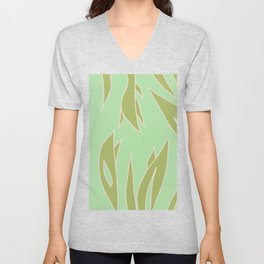 Green foliage Unisex V-Neck